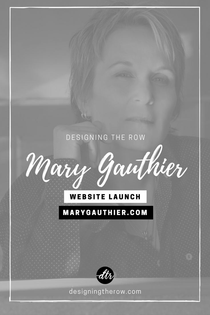 Mary Gauthier songwriter website design