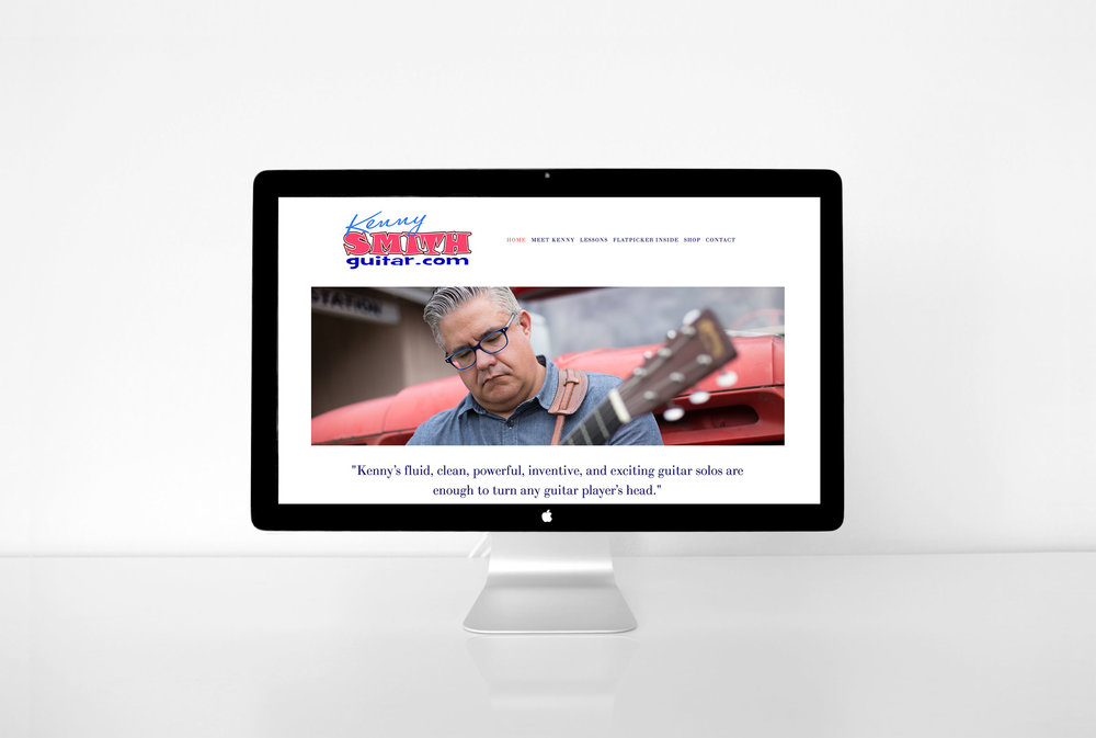 Kenny Smith online guitar lesson website