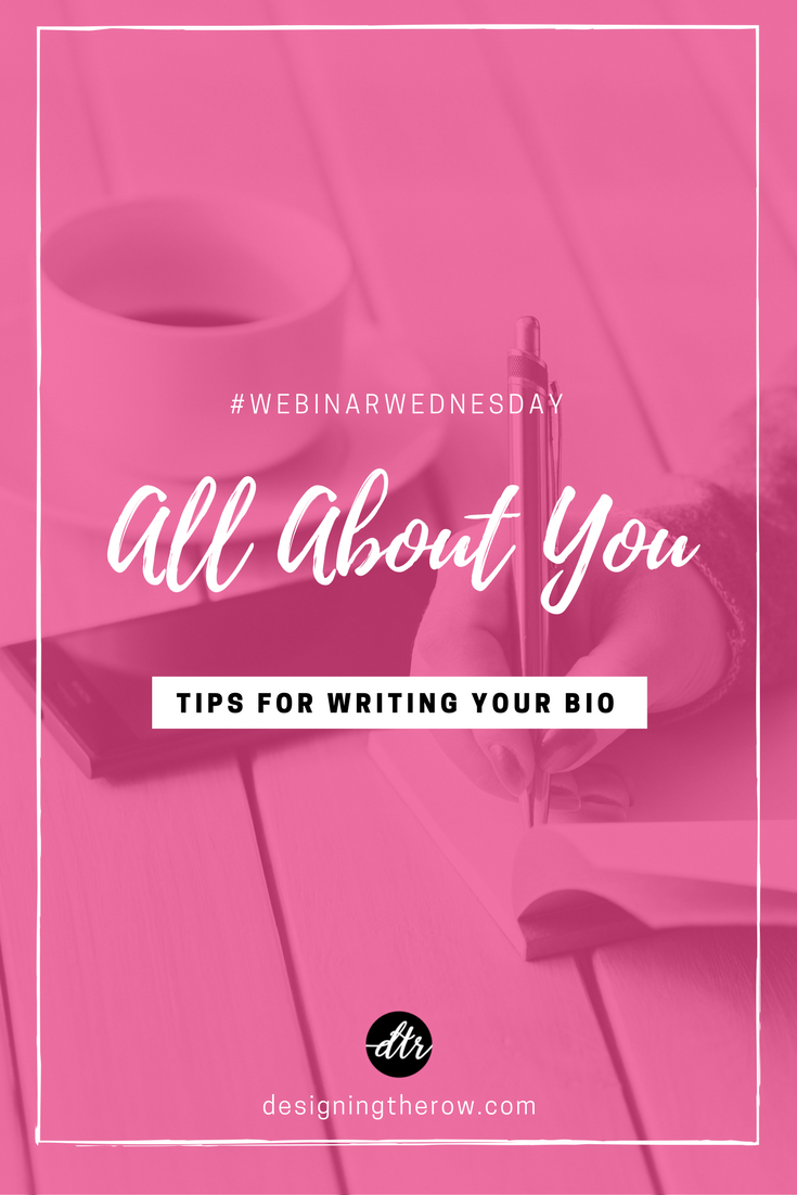 All About You: Tips for writing your bio