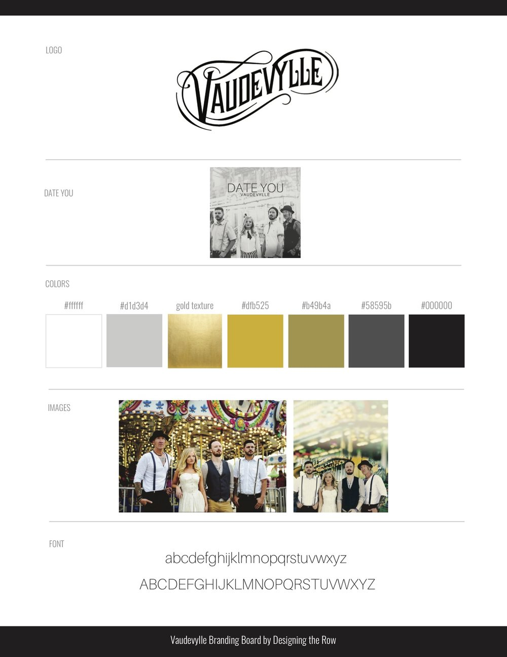 Vaudevylle music | Website Branding Board