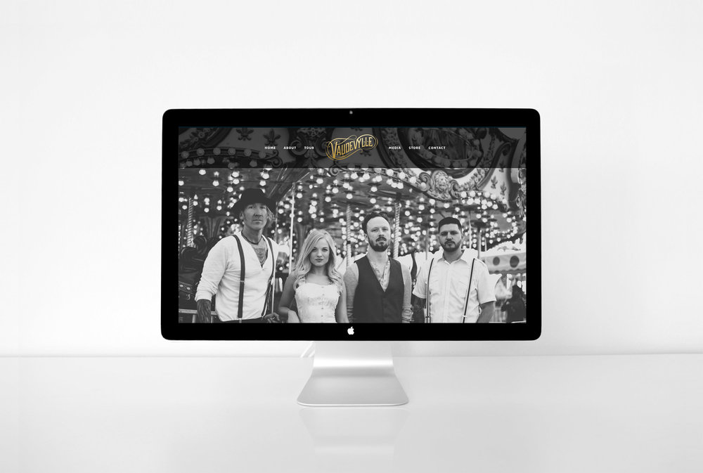 Vaudevylle | Music website design