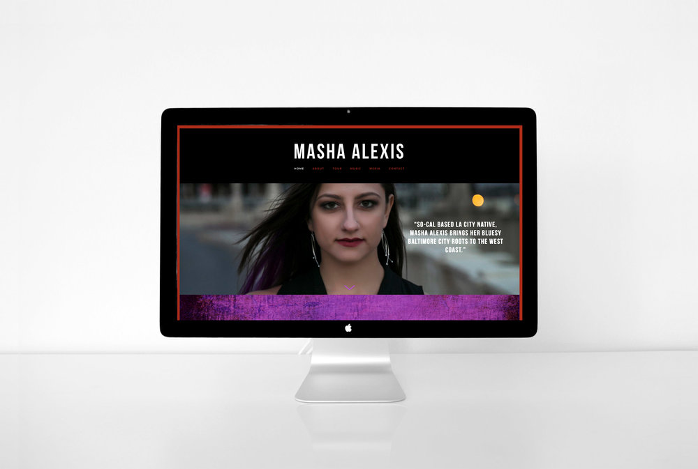 Masha Alexis | Music website design