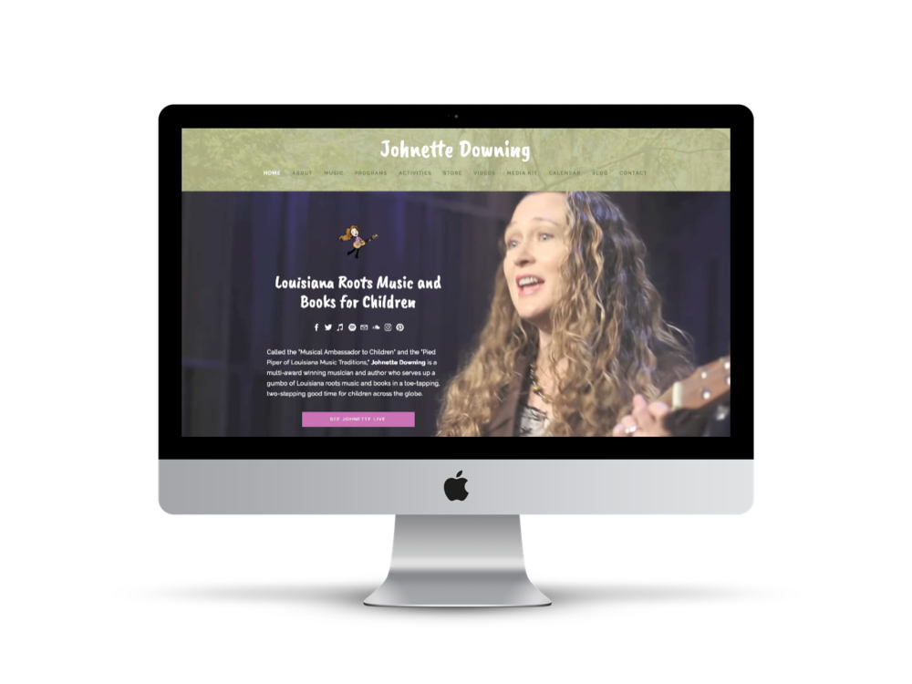 Johnette Downing | Musician website design