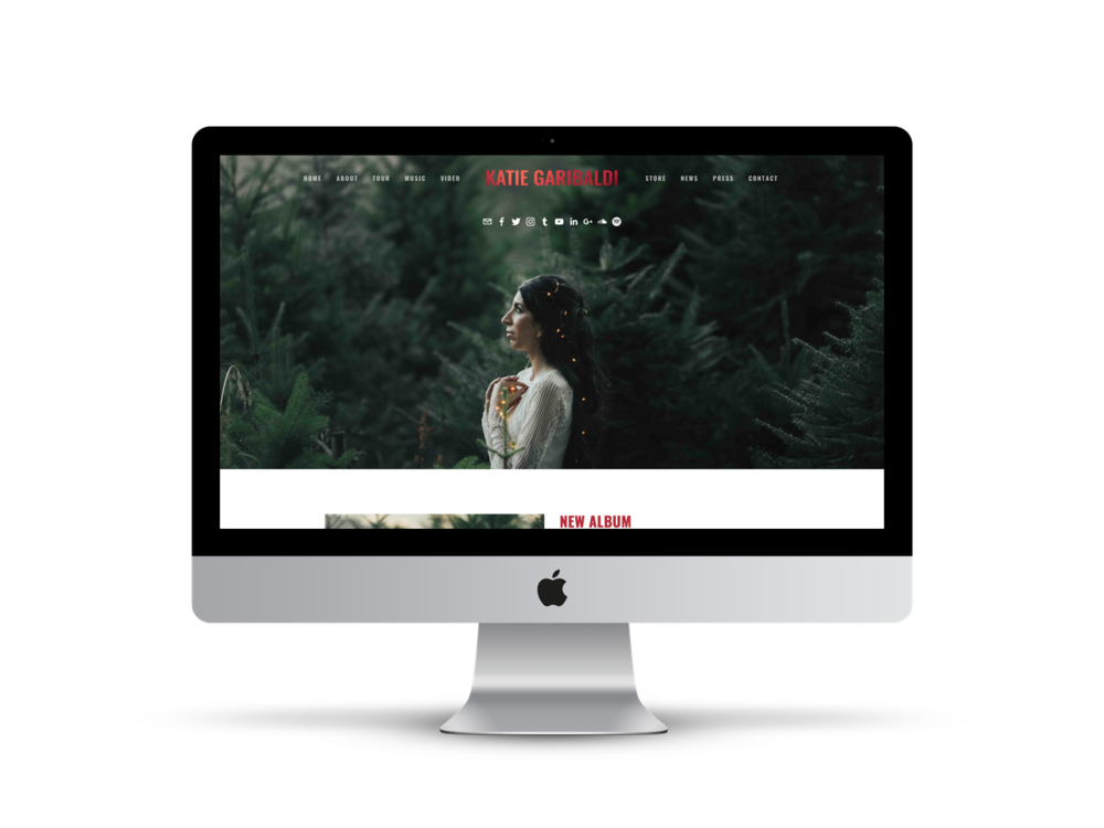 Katie Garibaldi | Musician website design