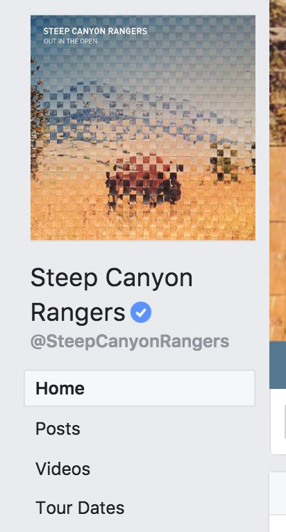 Facebook Page Tour Dates