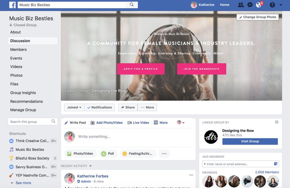 Join Facebook Group | Music Biz Besties