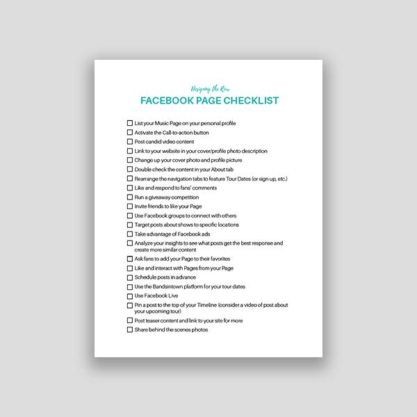 FB Page Checklist