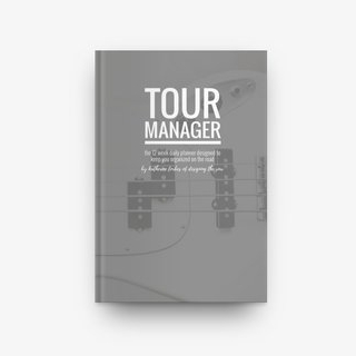 Tour Manager - A twelve week daily planner designed to keep you organized on the road designed