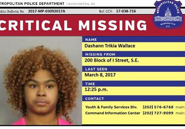 Whether it be abduction or voluntary runaway,  Doesn't Matter, let's keep our eyes open. Any Information on our missing Queens call (202)727-9099