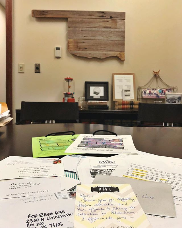 Catching up on mail after a busy week last week of working on House bills.  We're continuing the work this week of negotiating a solution for education & Oklahoma. It seems this has been the theme of the last 14 months & even the last 8 years of my time in the House. Stay tuned.