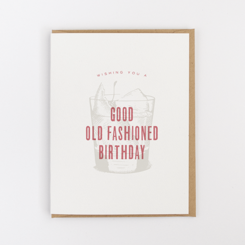Good Old Fashioned Birthday Card Jerry And Julep Southern Paper