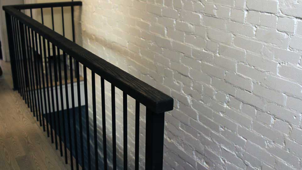 Inspiration from painted brick in my clients home on  The Expandables   (photo courtesy of HGTV Canada)