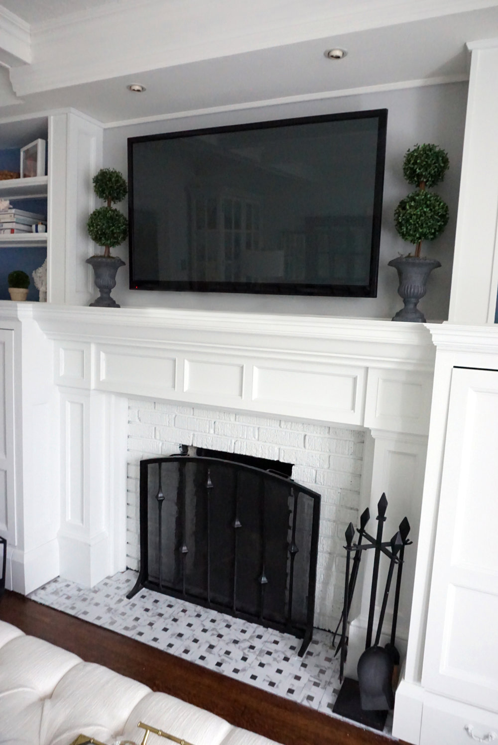 Finished Fireplace! This baby has come a long way...
