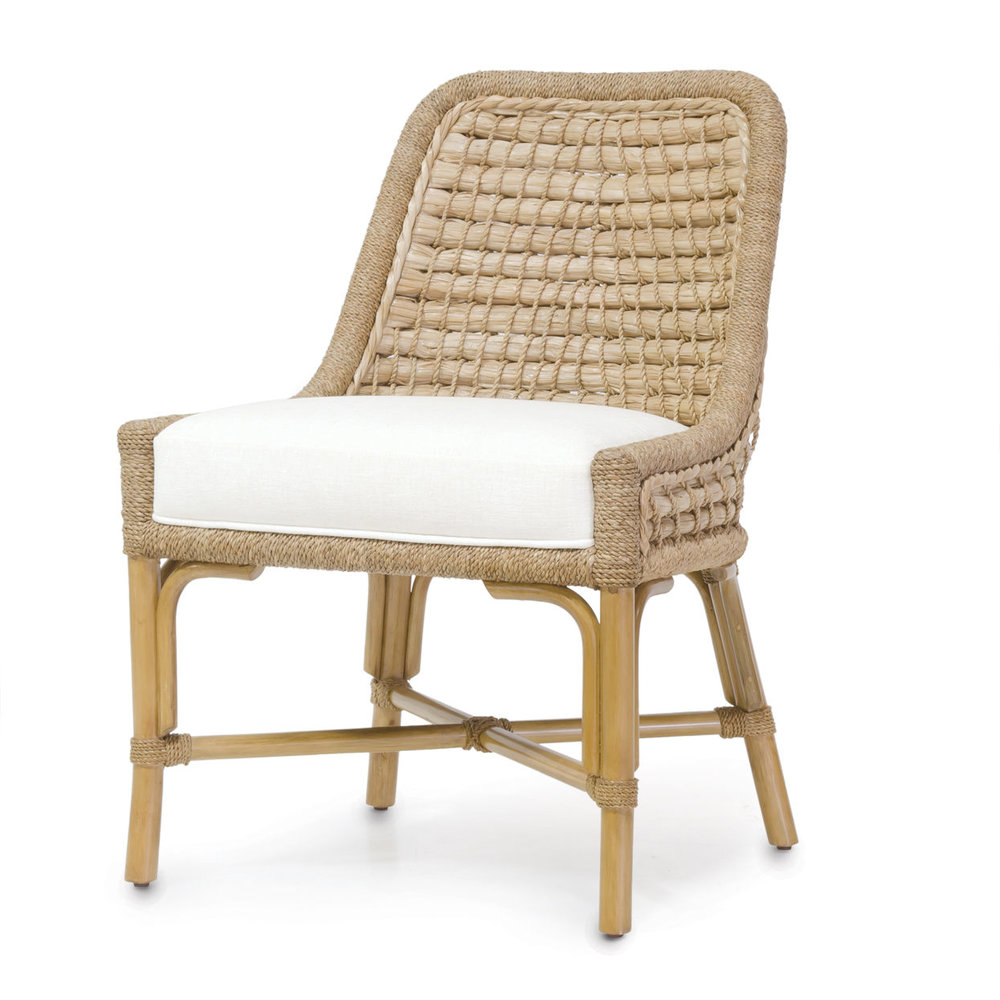 This Capitola Side Chair from  Palecek is one I've long admired -its versatile, not too formal and super comfortable!