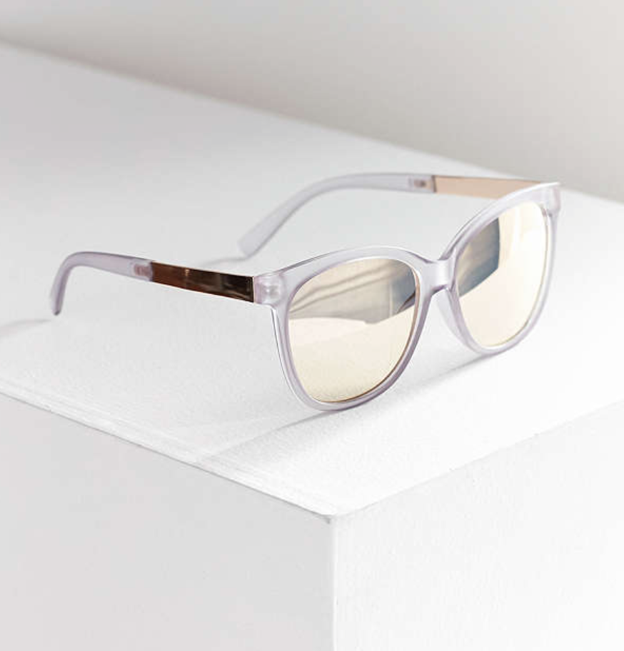 Urban Outfitters - Nicolette Square Blue Sunglasses