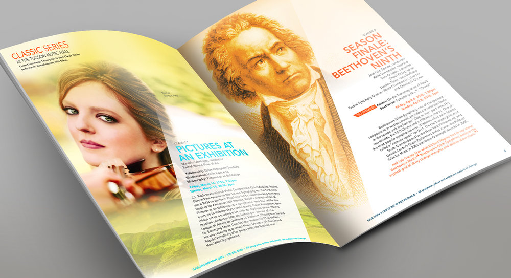 Tucson Symphony Orchestra • 2017 Brochure Featured Spread Design