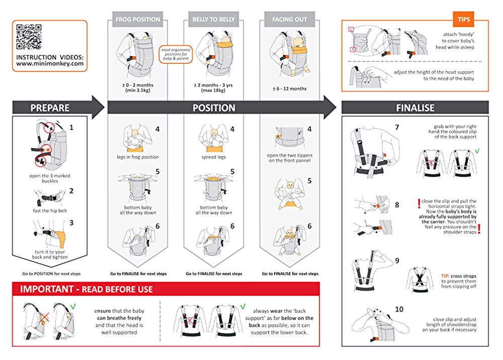 Ergobaby easy snug infant insert instructions with the original.