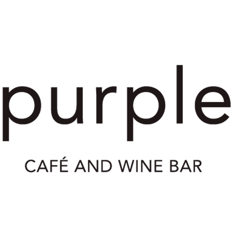 Purple Cafe and Wine Bar Logo | Just Add Yoga Partner
