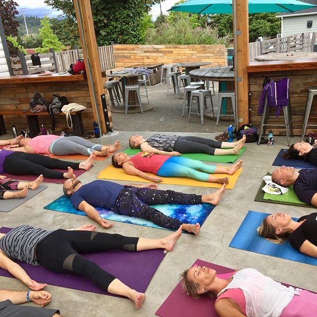 Is it the Friday yet? So stoked to get our rest on this weekend at @logecamps. If you aren't heading to the beach with us, our last outdoor class of the summer is happening next weekend on the grass at @fishbrewing_woodinville. It's our most fun and crazy All the Tastings + Yoga event, where you get to taste beer, cider, wine, and spirits. What you taste is up to you 🍻🍷🍸#justaddyoga #allthetastingsplusyoga