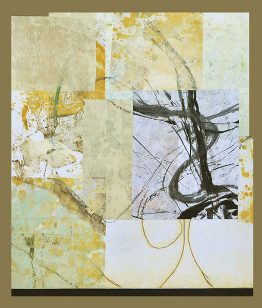 Collage 3, Encaustic and Collage, 18 x 14