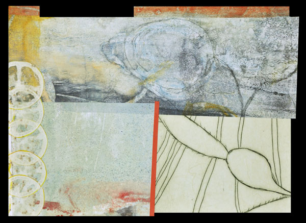 Collage 12, Encaustic and Collage, 18 x 14