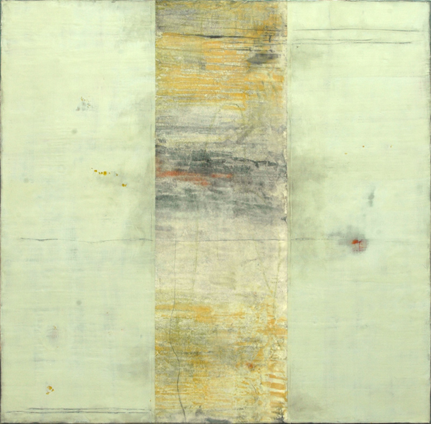 Imago 20, Encaustic and Collage, 36 x 36