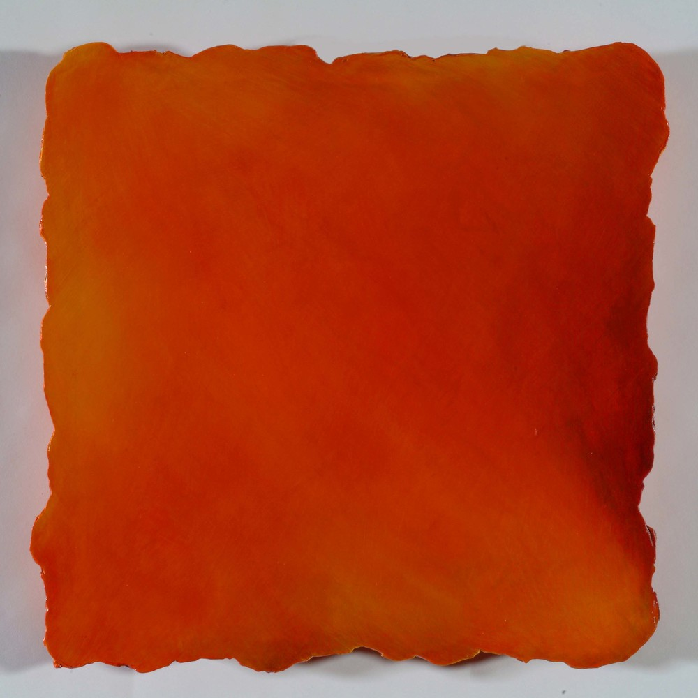 #243 Orange,  Oil on Canvas on Gesso-plaster Ground, 13 x 13