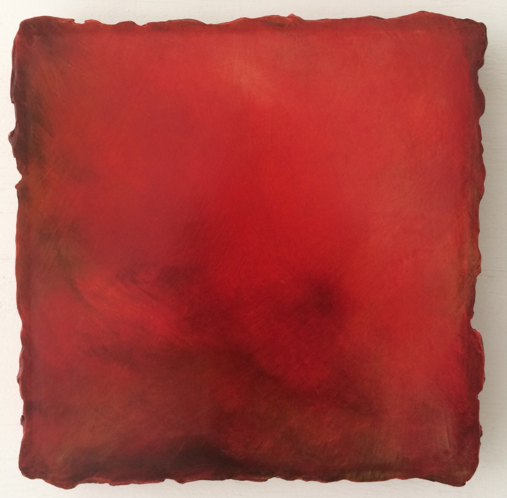 #163 Red, Oil on Canvas on Gesso-plaster Ground, 13 x 13