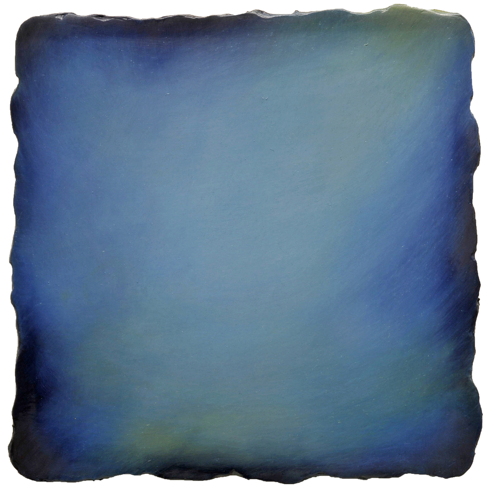 #4431 Blue,  Oil on Canvas on Gesso-plaster Ground, 13 x 13