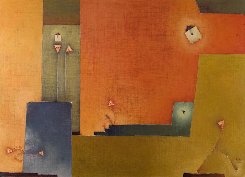 Tener Nada, Acrylic on Canvas, 32 x 47