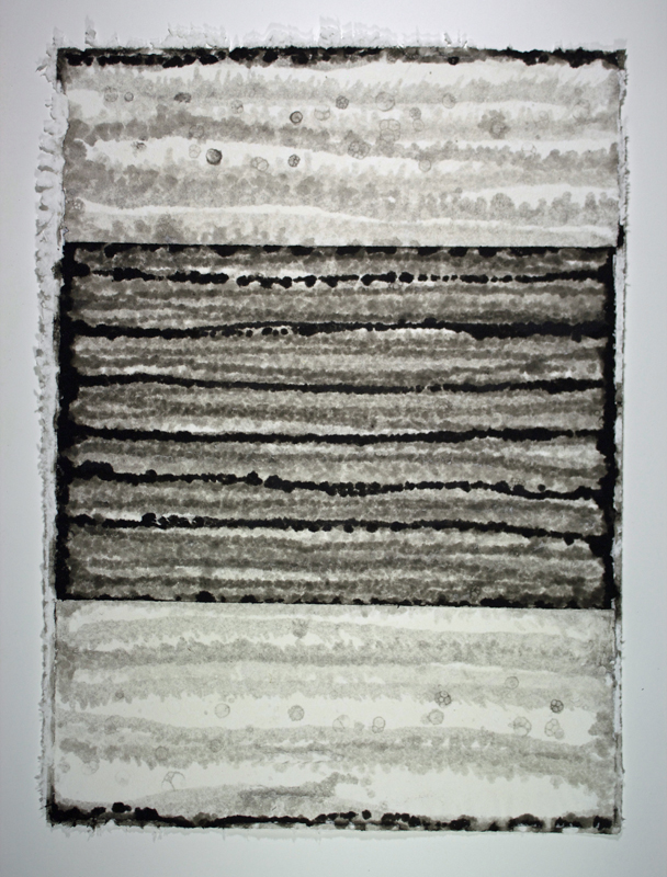 Black, White and Silver 2, Monoprint on Handmade Paper, 29 x 21