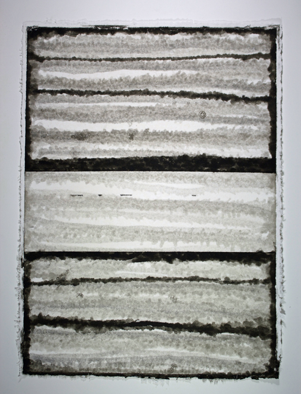 Black, White and Silver 4, Monoprint on Handmade Paper, 29 x 21