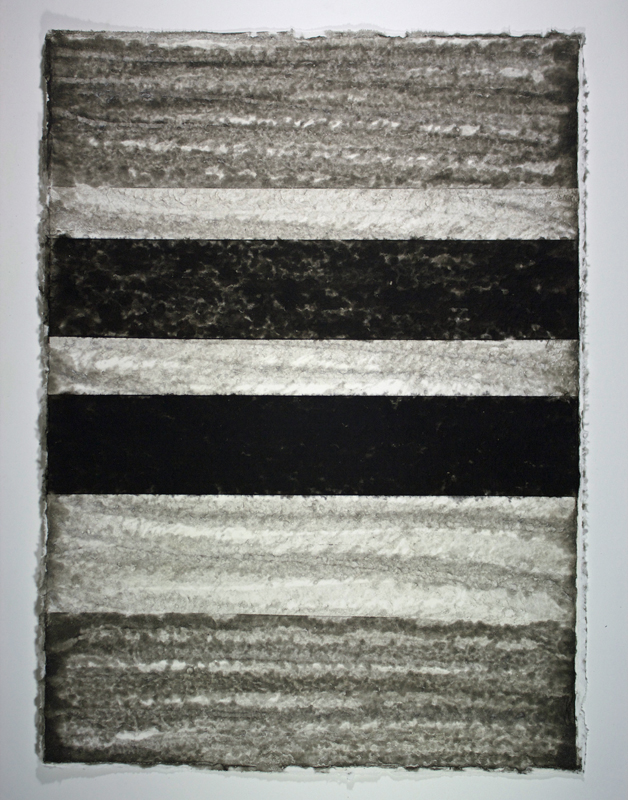 Black, White and Silver 5, Monoprint on Handmade Paper, 29 x 21