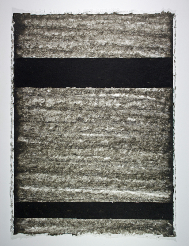 Black, White and Silver 6, Monoprint on Handmade Paper, 29 x 21
