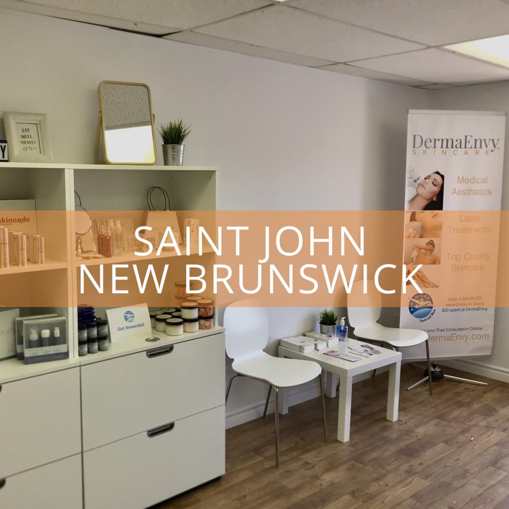 Saint John / Rothesay NB - 156 Westmorland Drive, Suite 303Saint John, New Brunswick E2J 2E7506.636.9907saintjohn@dermaenvy.com