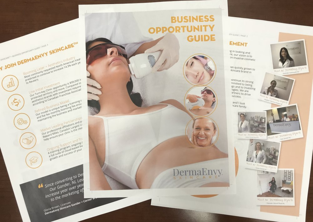 dermaenvy skincare franchise package