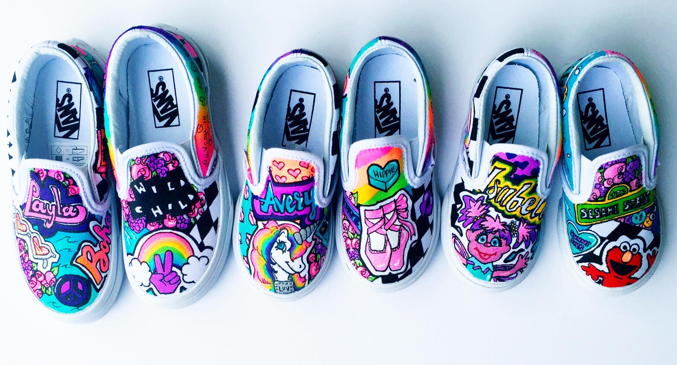 827c7e8a08d Toddler Vans Slip-Ons — Lo+Co Custom Sneaks