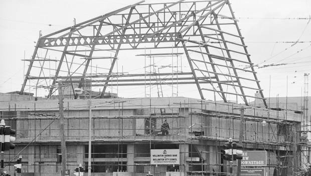 Building the Hannah Playhouse, 1968
