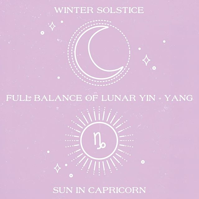 """✨ WINTER SOLSTICE ✨ So much energy shifting today! Here's the sum up: 🌞 First off, the Sun moves into Capricorn today, so happy season to all you Capricorns! ♑️ Check the link in bio for what that energy holds for us all in my December video! I'll have more to say for January. 💕 🌙 Today's the Winter Solstice, which means it's the longest night of the year, which is strong Yin Energy for the Earth, with the Sun (Yang) at its least. So the Earth holds dominant Moon energy, giving us this dominant Yin energy today and tonight. 🌕 Yet, the moon phase is also a Full Moon, which is also the Moon's fullest Yang expression. So the Moon itself is in its most Yin dominance over the Earth and is itself in the strong Yang phase. 🌎✨ So it's this unique balance of strong Yang within dominant Yin energy coming to us that holds a message for all of us! Its like the Divine Feminine is reminding us that feminine energy (Yin) is not only soft and gentle, but also strong and fierce. In all Yin, there is Yang, and in all Yang, there is always Yin. 🌙 The message coming in strong for me today is to STOP forcing things, even the little things, and to totally LET GO and LET ALL THINGS FLOW. Even my healing! I can't force pain out of my body, but I can flow my way into health through alignment. So today I am SURRRNDERING and releasing anything that causes me to attempt to contort my own energy! I'm gonna just """"let go and let God!"""" 🙏🏼✨ 💗How about you? How's this Winter Solstice energy affecting you? Let me know below! ✖️💗✖️💕"""