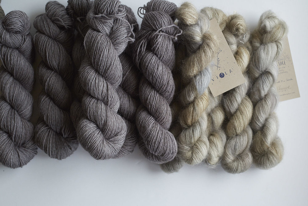 Stovepipe Shadow DK with Moonrock Mohair Lace
