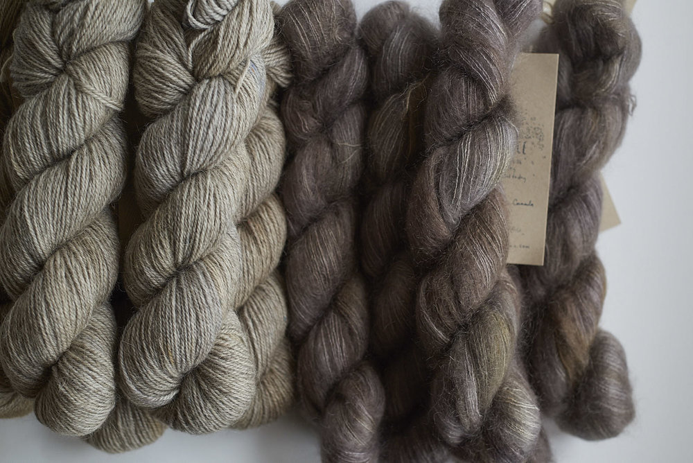 Silver Birch Shadow DK with Stovepipe Mohair Lace