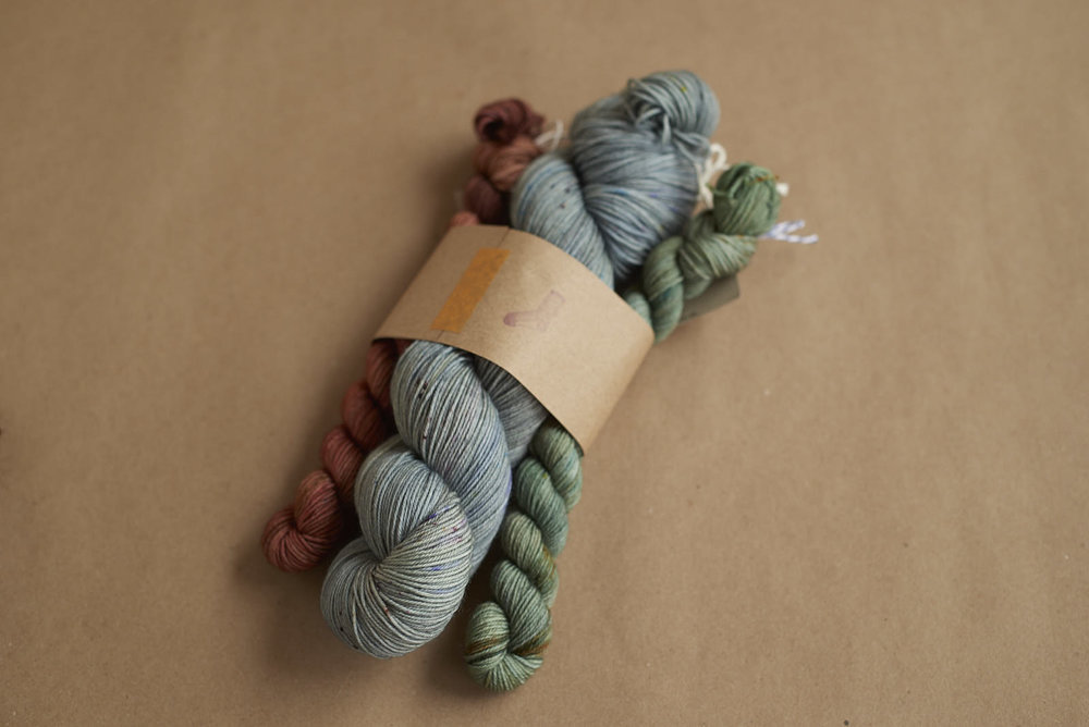 Favourite Sock Kit # 1: Reflections with Fireside and Evergreen Sock Minis