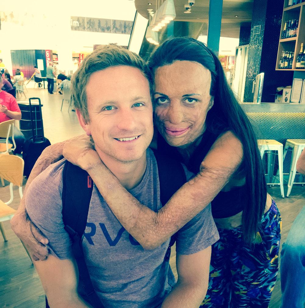 Turia Pitt &Michael Hoskin