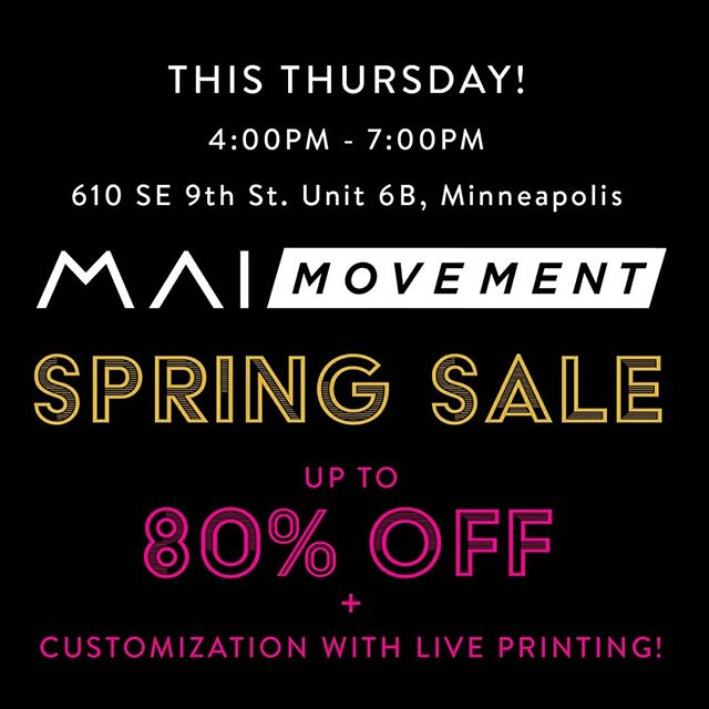 Get ready for the long weekend with some new gear! Our Spring sale is this Thursday from 4-7! . We'll be customizing your product with live printing all day! . Can't make it in person? Message is what you want and we'll ship it to you! Follow our story to see what other styles are available! . . . #workouttanks #workoutclothes #workoutessentials #workout #fitness #gymgear #gym #leggings #yogapants #yoga #yogi #sale #springsale #memorialdaysale #memorialday #memorialdayweekend
