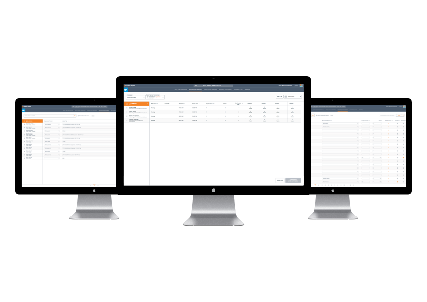 The desktop Salesforce site is used so managers can manage all the details submitted through the foreman tablet app