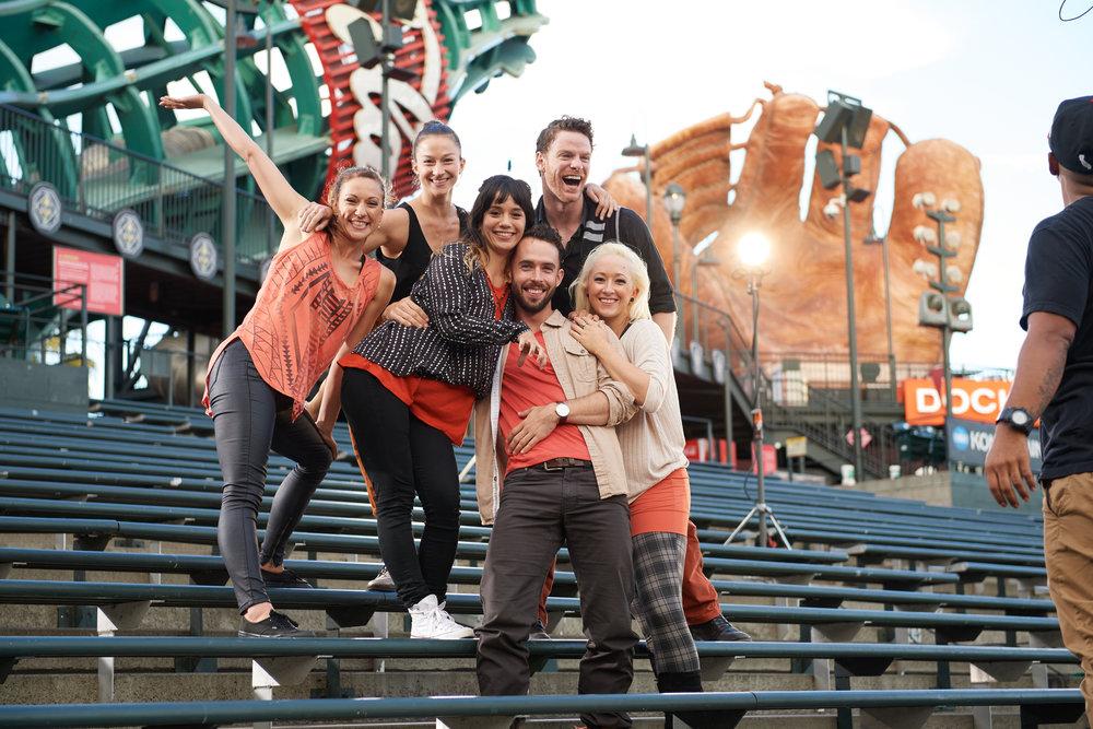 BaseBallet's Dancing Athletes [Photo by David DeSilva]