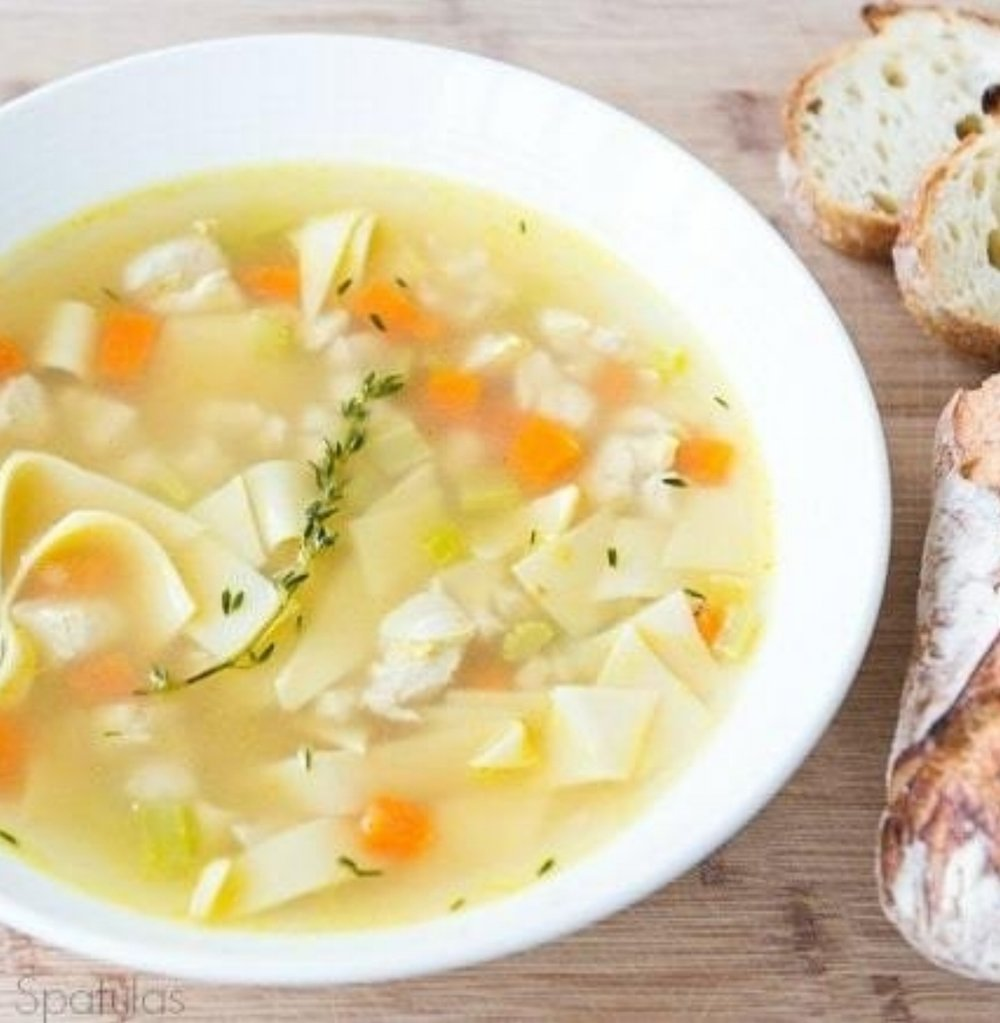Macrobiotic Chicken Soup - Heat the stovetop up and simmer this delicious receipt all day for all the comforts that soup brings and health benefits to boost!