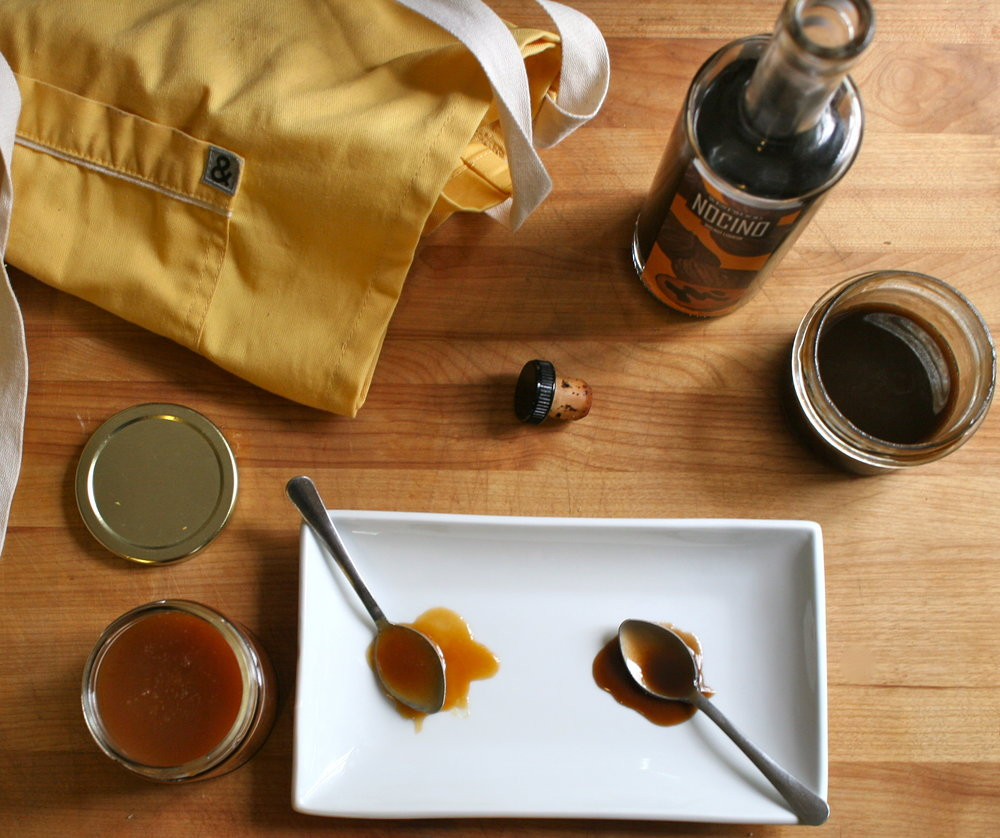 caramel sauce recipe testing, winter 2016