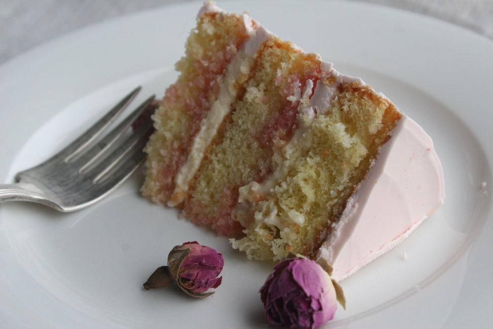 Orange + Rose slice+CakeBloom