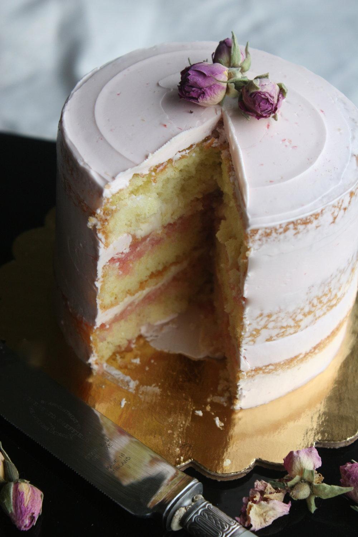 rose cake+slice+cakebloom